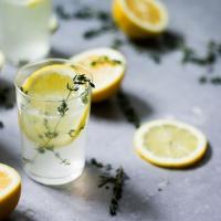 Citronu-timiāna džina kokteilis